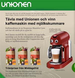 vinn en kaffemaskin